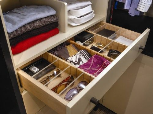 Adjule Built In Closet Drawer Organizers