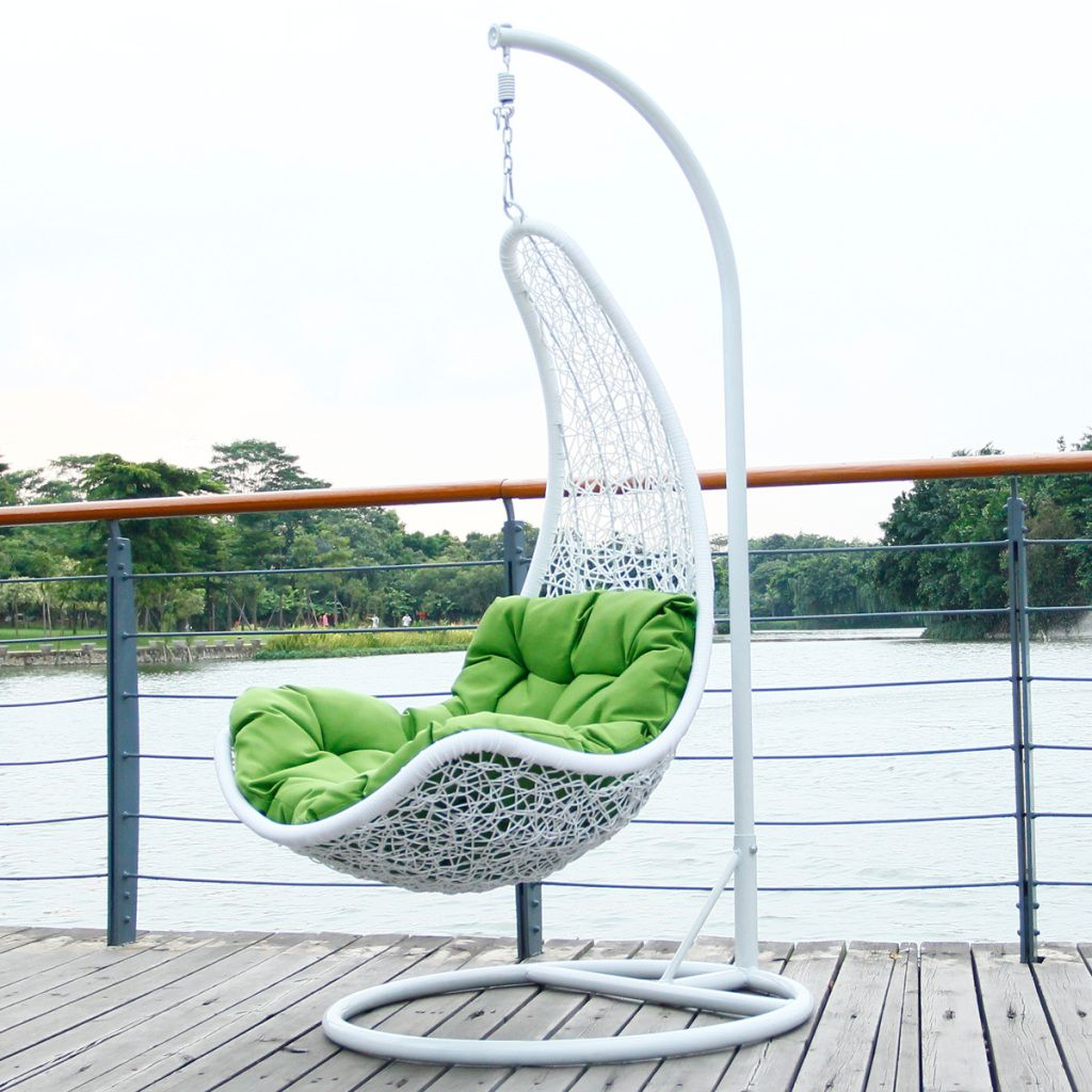Furniture Rattan Bird Nest Outdoor Casual Hanging Basket Hanging Extra  Comfortable And Classy Side Hanging Chairs In White And Wood Flooring  Balcony ...