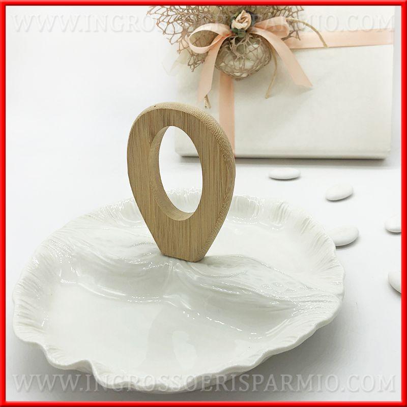 Antipastiera Ceramica Bianca E Manico Legno Moderna Matrimonio Ingrosso E Risparmio Ceramica Bomboniere Ceramica Bianca