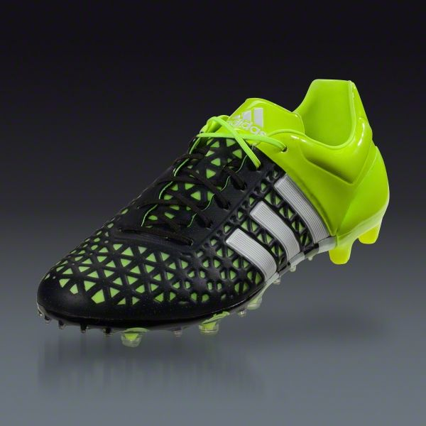 4001edd5b ... adidas ace 15.1 fg ag black white solar yellow be the