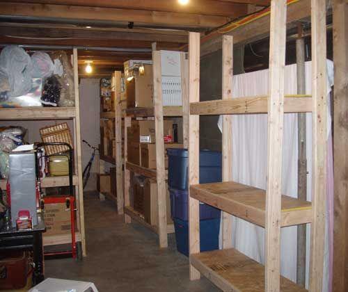 Strong Homemade Wood Storage Basement Shelves Diy Project: Cheap, Easy-to-Build Storage Shelves