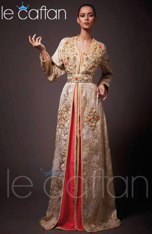17f4120c1f0 Caftan Beige Doré 2014 Elégant   Magnifique Design ~ LE CAFTAN   Boutique  de vente caftan marocain