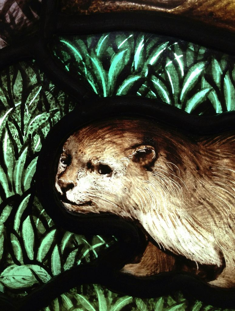 St Cuthbert's Otter | by davewebster14, St Cuthbert's Church, Carlisle, A K Nicholson studios, one of the otters that kept St Cuthbert company when he was praying on the seashore