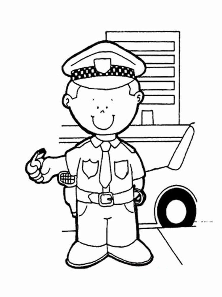 - Police Officer Coloring Page Fresh Police Ficer Coloring Pages Free  Printable Police In 2020 Community Helpers Theme, Community Helpers,  Community Workers