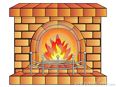 Vector Illustration Of A Cartoon Fireplace Fireplace Drawing Illustration Cartoon