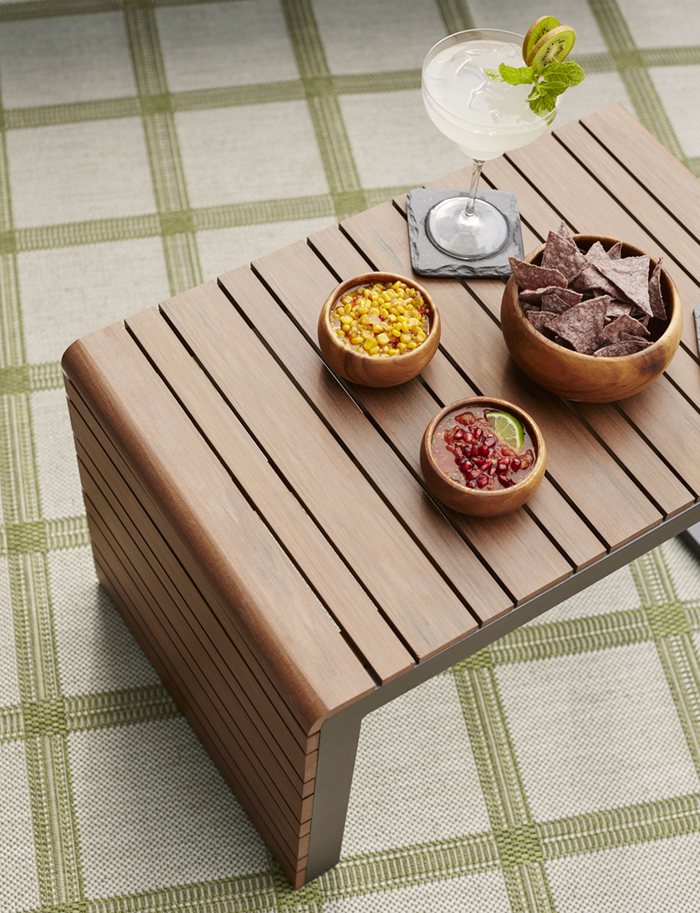 Grain and warm tones of natural brazilian ipe wood everyone does a double take when they first see our exclusive rocha outdoor lounge collection