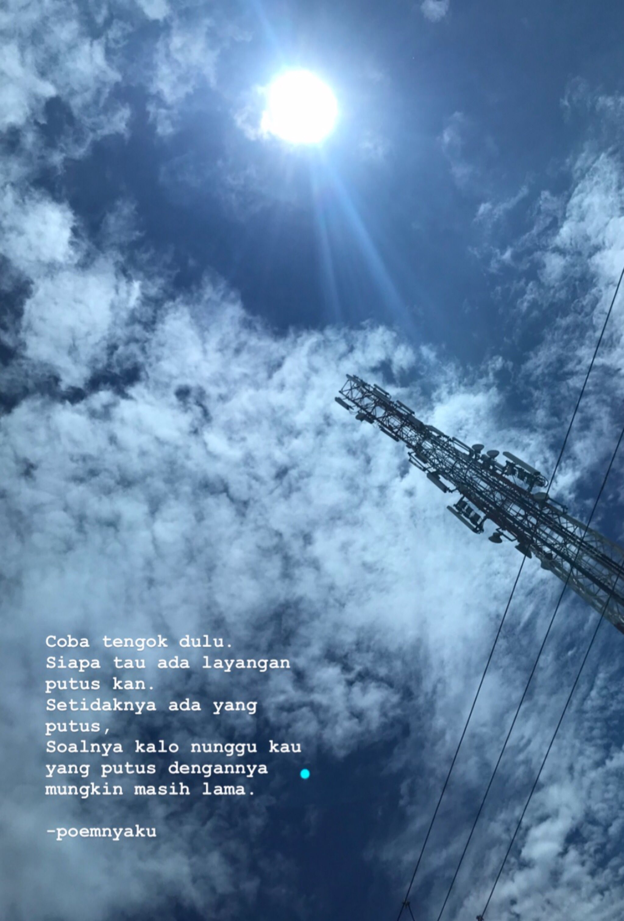 Pin Oleh Poemnyaku Di Catatan Kakiku Poemnyaku By Novilia Langit Biru Langit Sajak