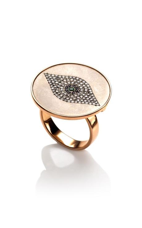 Womens Evil Eye White Diamond Ring Ileana Makri Pjsa29R0u