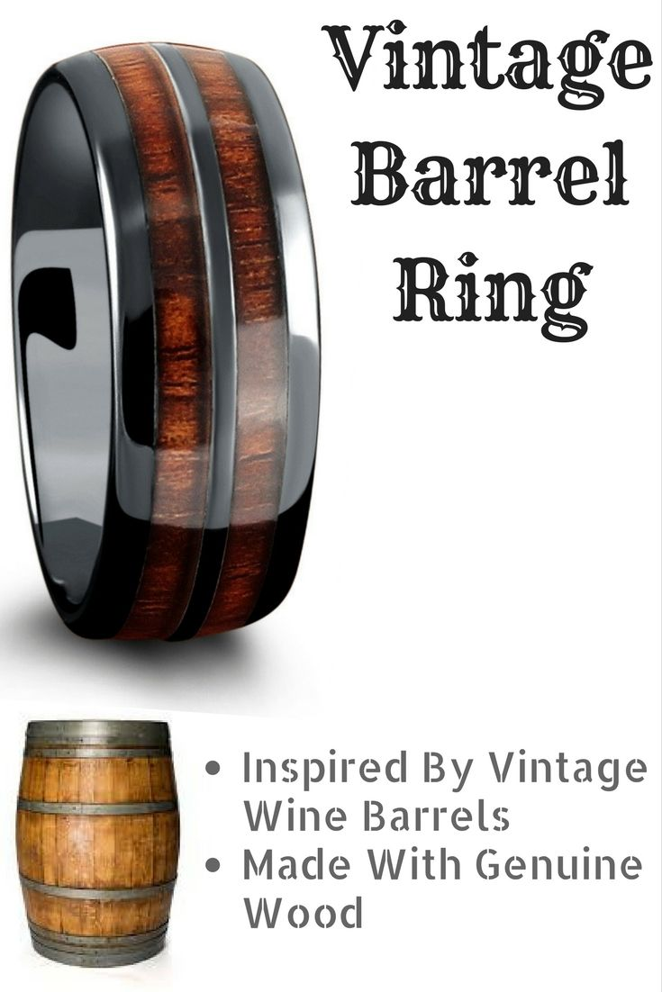 Barrel Ceramic Koa Wood Ring Weddings Wedding band men and