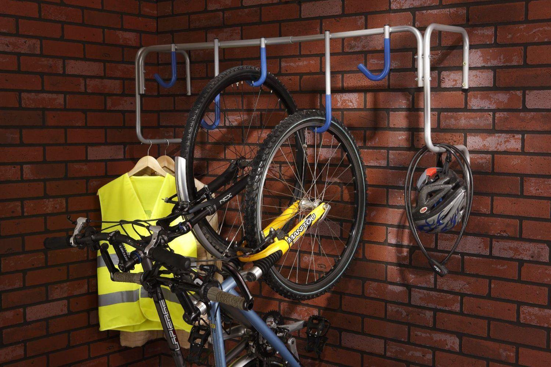 Mottez 5 Bike Wall Mount Stand Amazon.co.uk Sports