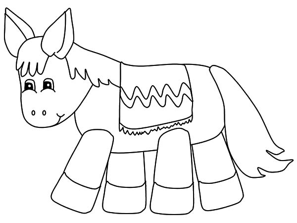 Mexican Donkey Pinata Coloring Pages Color Luna Coloring Pages Color Coloring Pictures