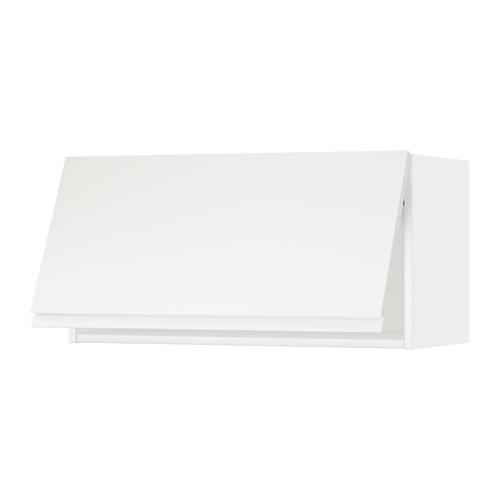 METOD Vaakasuuntainen seinäkaappi - valkoinen, Voxtorp valkoinen, 80x40 cm - IKEA