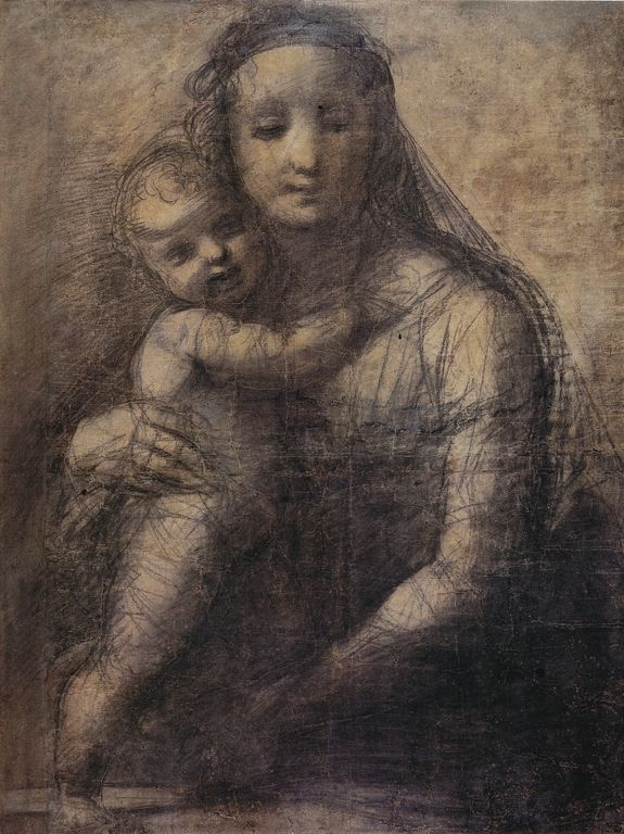 Madonna of the Tower Study - Raphael, date unknown