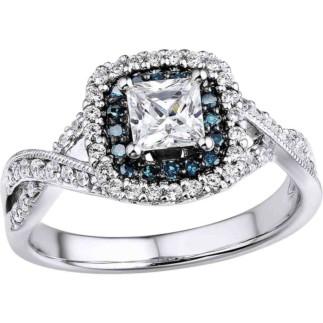 Engagement rings with black diamond accents jewellery pinterest