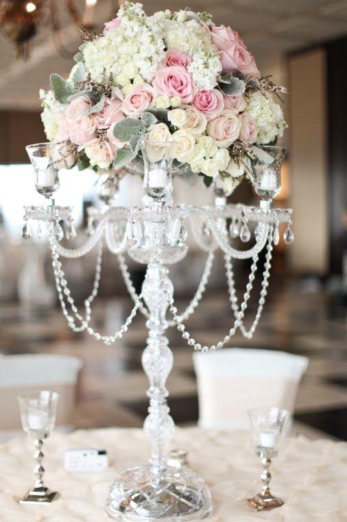 Crystal Candelabra Wedding Rentals Tampa Flower Centerpieces
