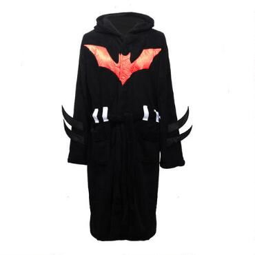 Are+you+feeling+batty?+The+Batman+Beyond+Fleece+Bathrobe+features+an+all-over+green+Bat+logo+print+to+highlight+DC+Comics'+Batman+franchise.+Let+justice+return+to+Gotham+and+your+lounge+wear+with+this+wonderful+robe.+Made+from+100%+polyester+fleece,+this+soft,+cozy+Batman+Beyond+robe+looks+like+velour+on+the+outside+and+feels+like+a+soft+towel+on+the+inside.+One+size+fits+most.