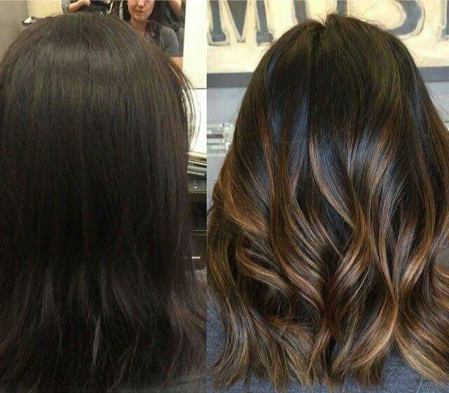 Pin by katarzyna m on wosy pinterest hair coloring hair spruced up her dark hair with some caramel toned highlights one day when my pixie grows out pmusecretfo Images