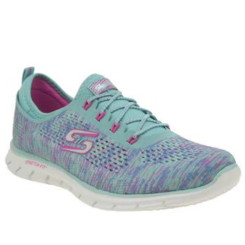 Skechers Turquoise Glider Deep Space Womens Colourful comfort comes in the  form of the Skechers Glider