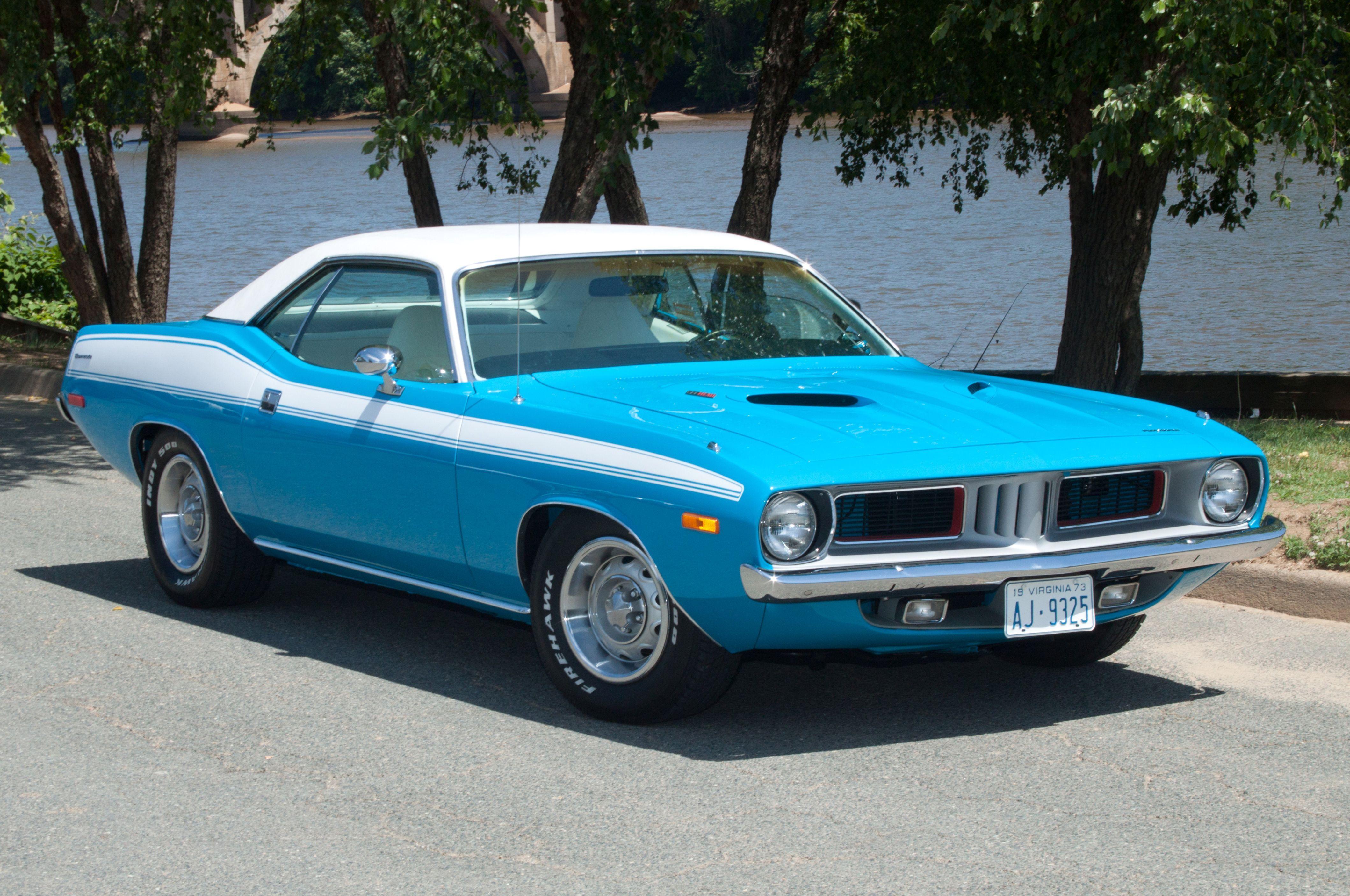1973-plymouth-barracuda-blue | cuda | Plymouth muscle cars