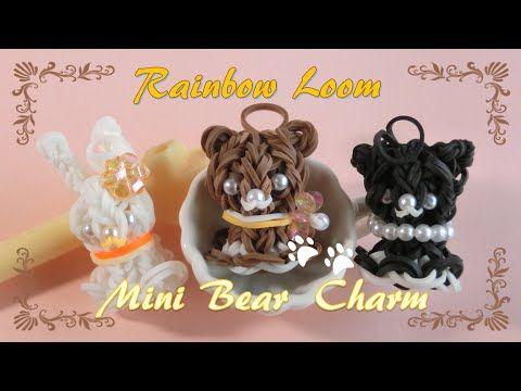 【レインボールーム】 ゆらゆら揺れる♪ てるくまチャームの作り方 ~How to make Bear Charm on Rainbow Loom~ - YouTube