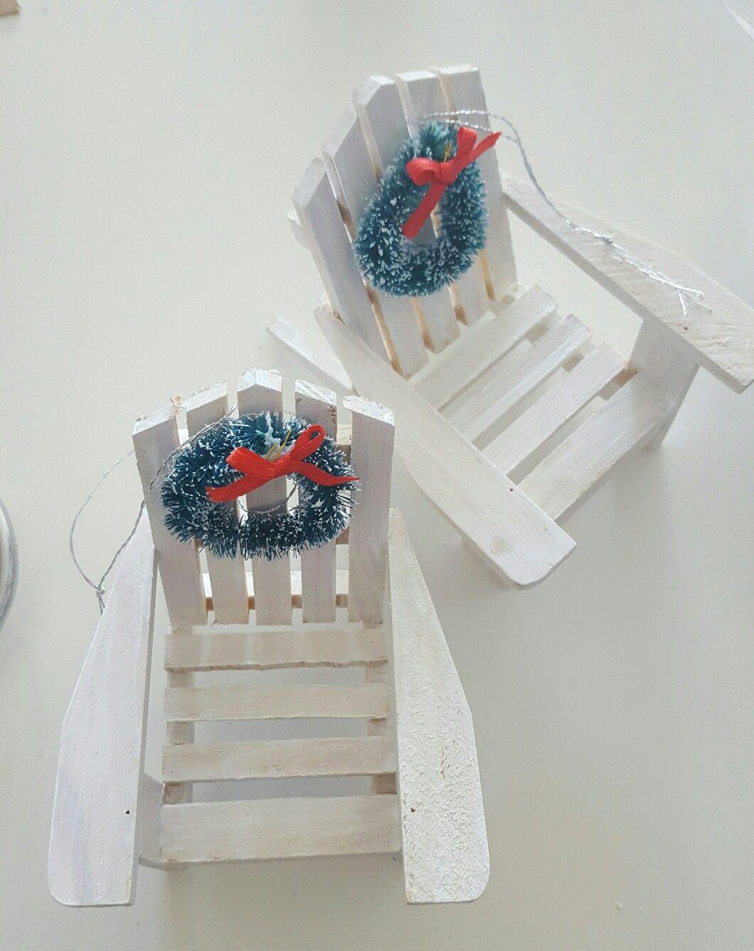 Diy Mini Beach Chair Ornaments For My Costal Christmas Tree