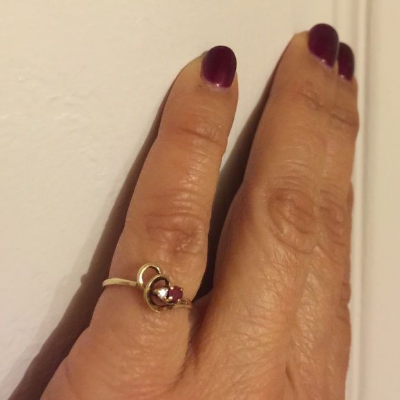 HOST PICKDowntown chic party Ruby diamond ring Tag me for FREE