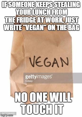 #vegan #humor #lunch #meme #life #hack #your #forvegan meme humor life hack for your lunch #veganhumor