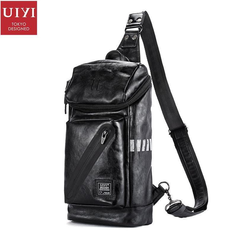 b516477a53 UIYI Messenger Bags Small PU Leather Handbag Men Casual Shoulder Crossbody  Travel Sling Satchel Bags Chest
