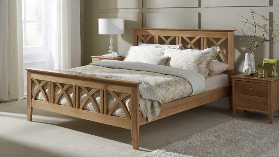 Serene Maiden Solid Oak Bed Farmhouse Living Pinterest