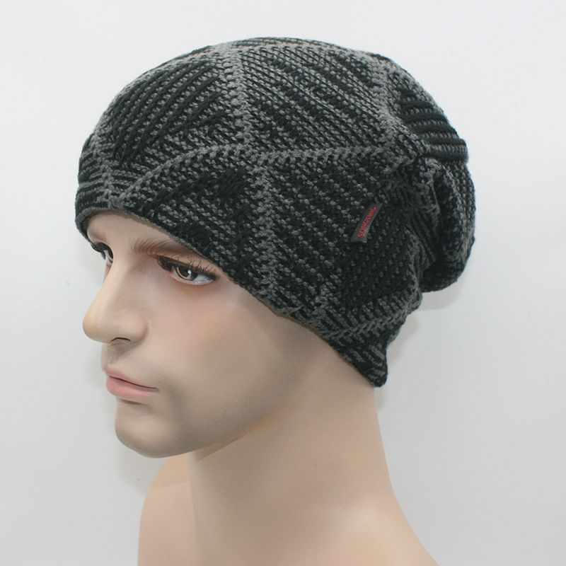 Find More Skullies & Beanies Information about Warm Thick Knit Wool Crochet Slouchy Beanies Cap Snowboarding Knitted Winter Hat,High Quality cap mix,China hat kitty Suppliers, Cheap cap suzuki
