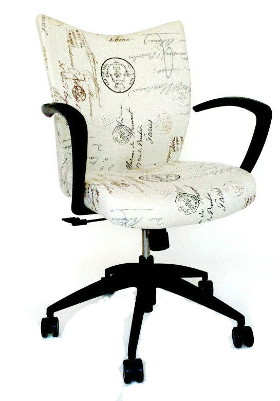 cute office chair. Simple Chair Cute Office Chair Done In A French Script Fabric Throughout Office Chair H