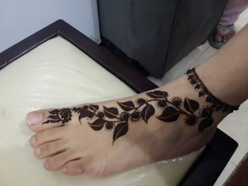 Qatar Collections Foot Henna Foot Henna Henna Foot Henna