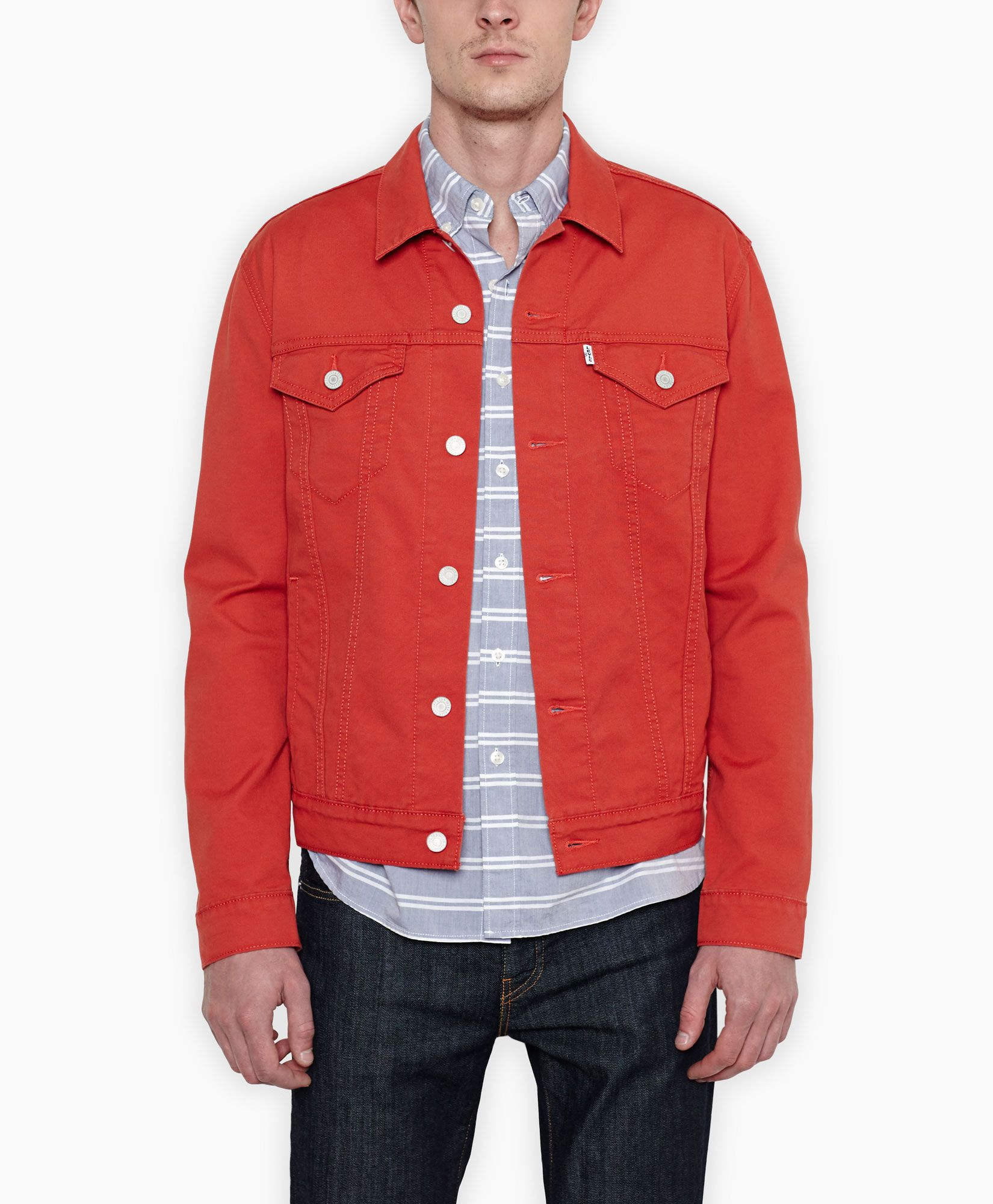 Levi's The Trucker Jacket Red Rock Bedford Cord The