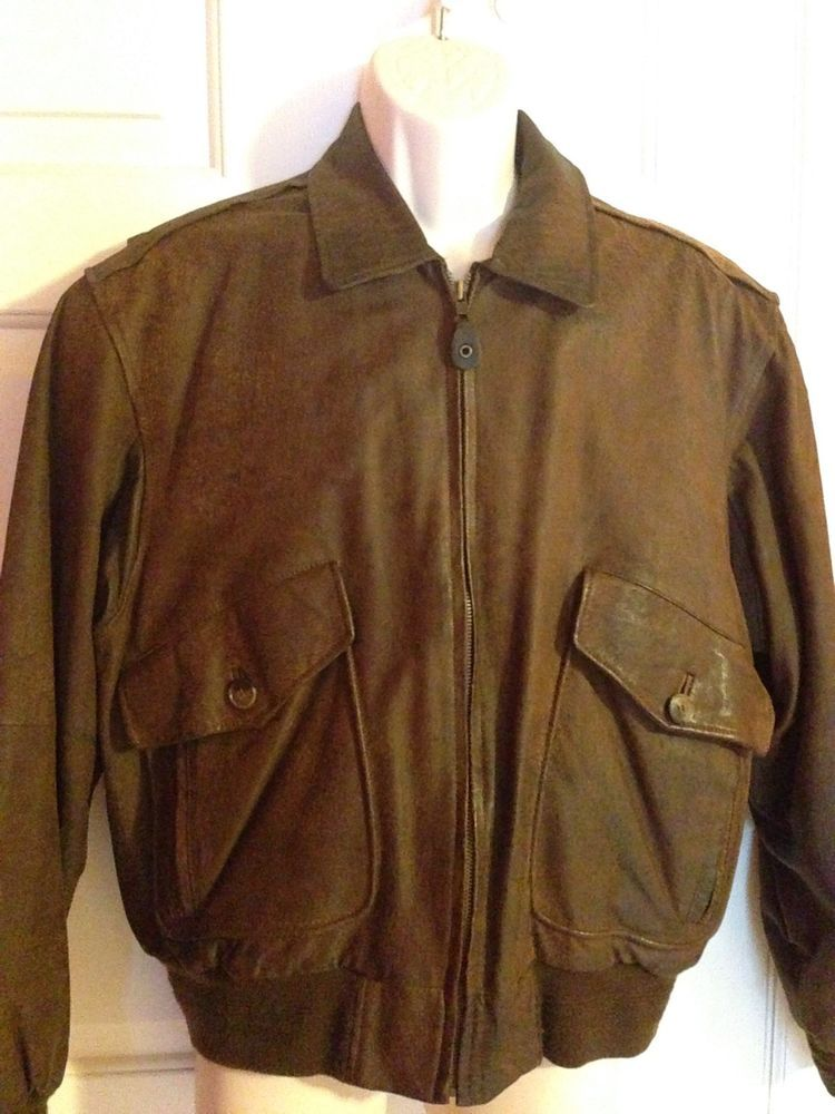 ce8afa0426b Details about Vintage M Julian Adventures Brown Leather Airborne ...