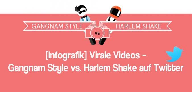 Die Infografik mit Gangnam Style vs. Harlem Shake: Die viralen Könige und die Unterschiede ihrer Verbreitung auf Twitter