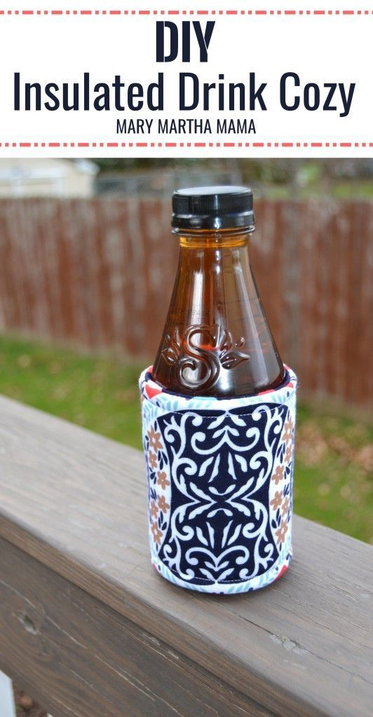 Step by step tutorial for how to make your own insulated drink cozies #TeaStraightUp #ad