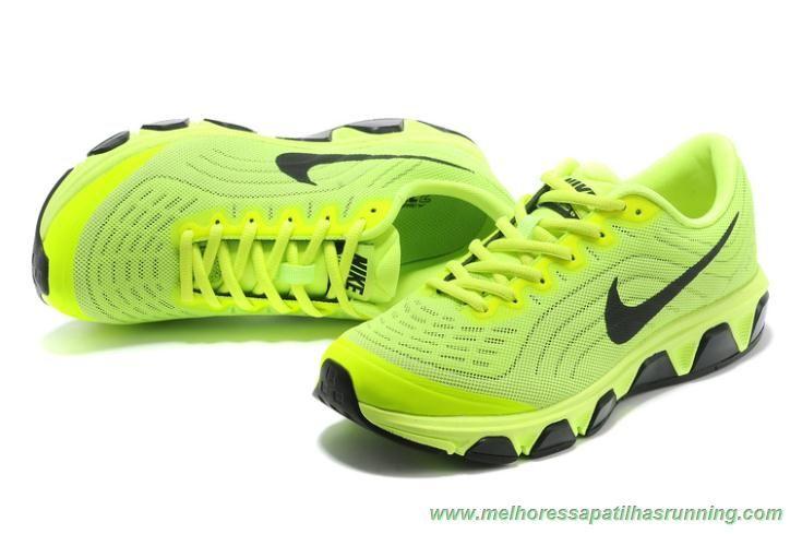 melhores sapatilhas running Electric Amarelo Preto 621225-700 2015 Nike Air Max Tailwind 6 Mulheres