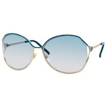37a3ab8ad3f Get the lowest price on Gucci Sunglasses GG 2846 N S 0YD2 Gold Dark  Turquoise and other fabulous designer clothing and accessories! Shop Tradesy  now