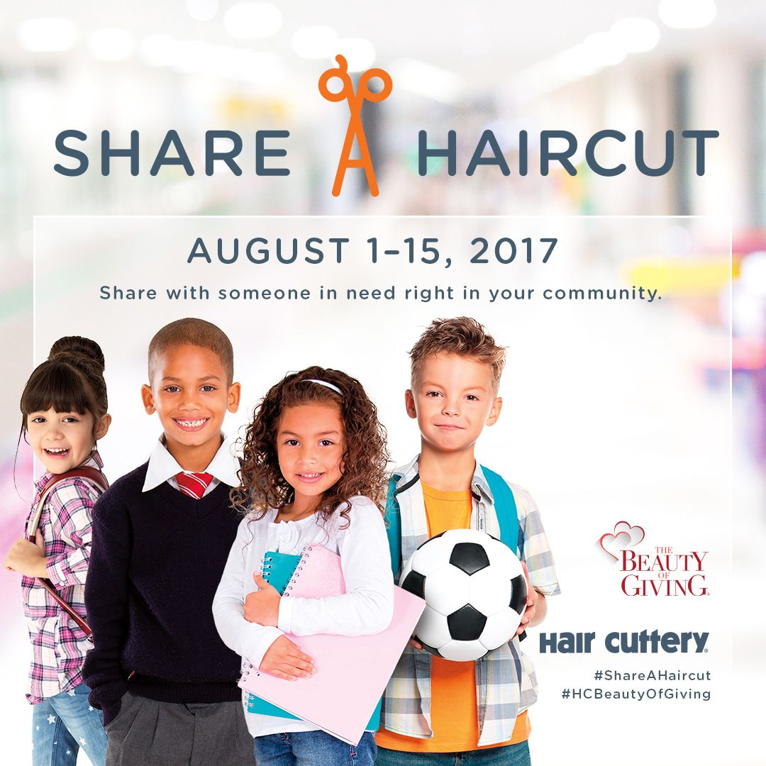 Hair Cuttery Share A Haircut Program How To Donate A Haircut To A