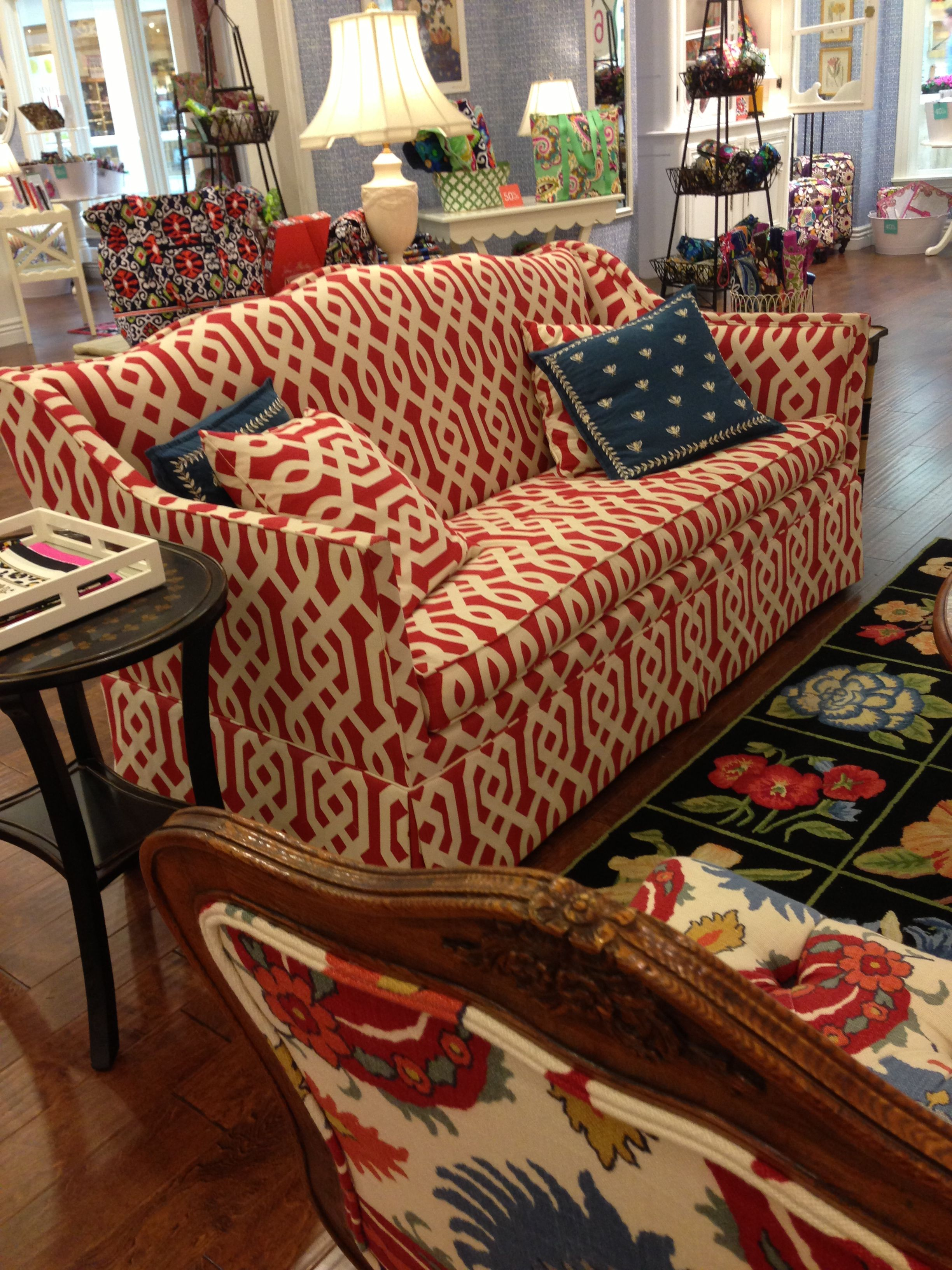 Love This Couch In The Vera Bradley Store