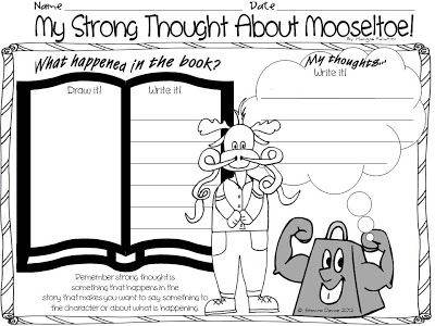 Mooseltoe Writing Activity Writing Activities Writing Lessons