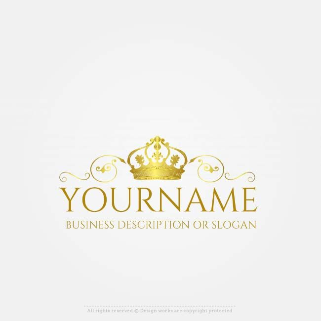 Online gold crown logo design free crown logo maker advertising free logo maker gold crown logo design cheaphphosting Image collections