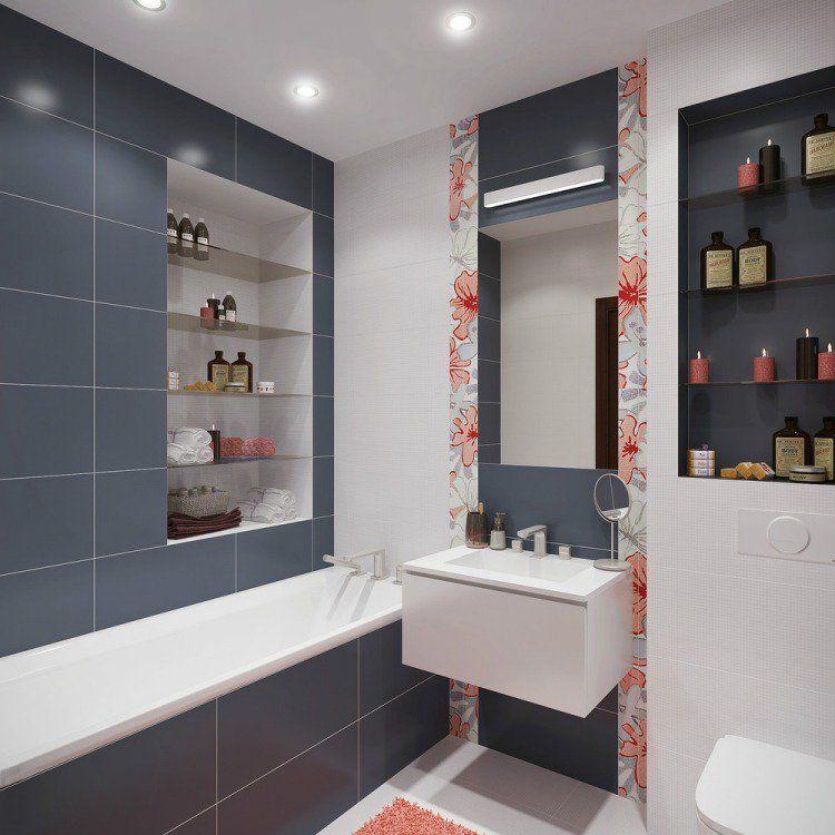 Aménagement Salle De Bains Sans Fenêtres Idées Supers Spaces - Idee carrelage petite salle de bain