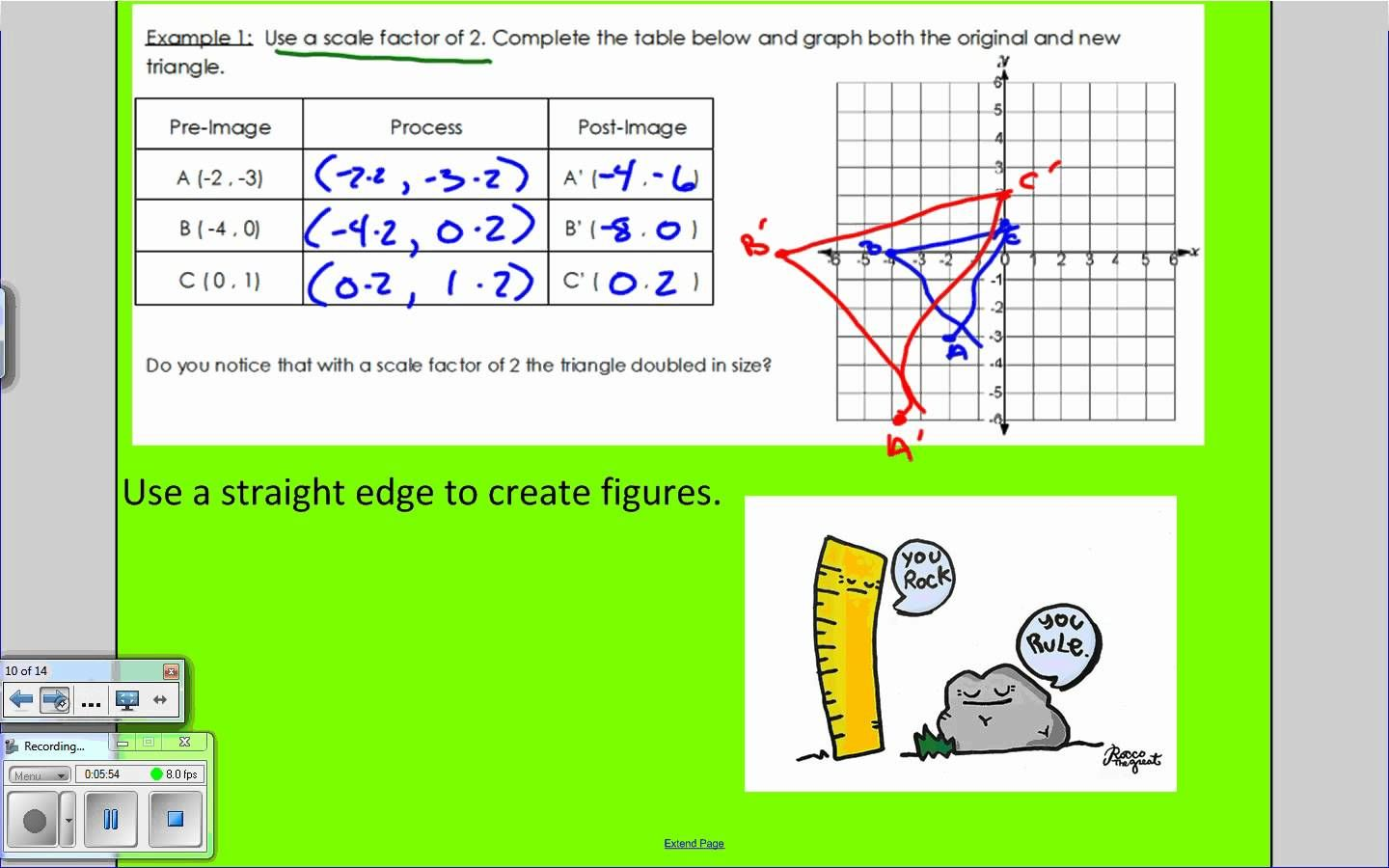 Dilations And Scale Factor Teaching Mathematics Teaching Math Middle School Math