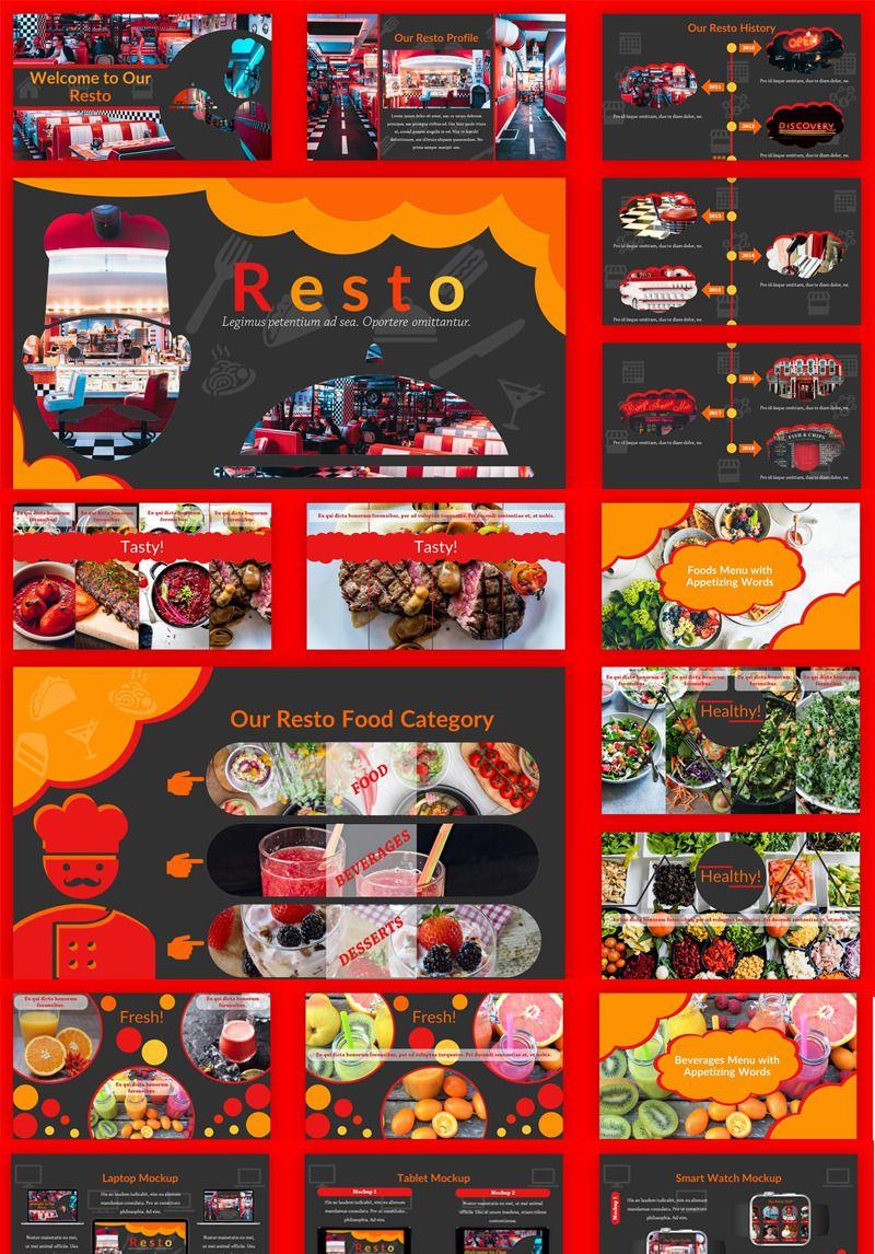 Resto Unique Restaurant Google Slides 84572 Unique
