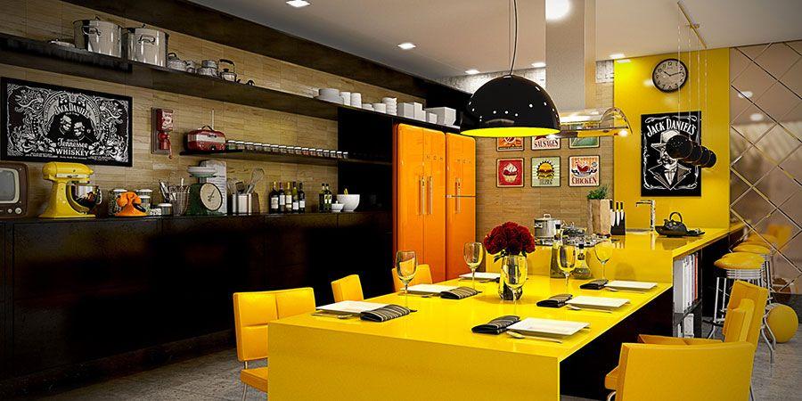 Cucina gialla dal design moderno n.01 | Cucine | Pinterest ...
