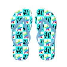WONDERFUL 40TH Flip Flops http://www.cafepress.com/jlporiginals/6515966  #40thbirthday #40yearsold #Happy40thbirthday #40thbirthdaygift #40thbirthdayidea #40yroldDiva  #happy40th #personalized40th
