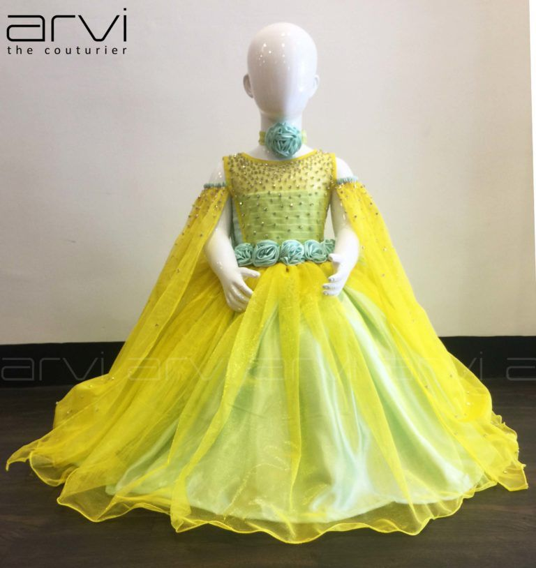 Yellow color kid frock ladies fashion designer in rs puram coimbatore boutique also rh pinterest