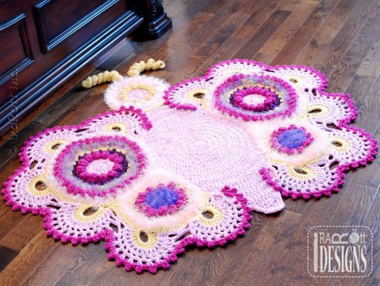 57 Tapetes de Crochê Pra Você se Inspirar... lindíssimos e super ...
