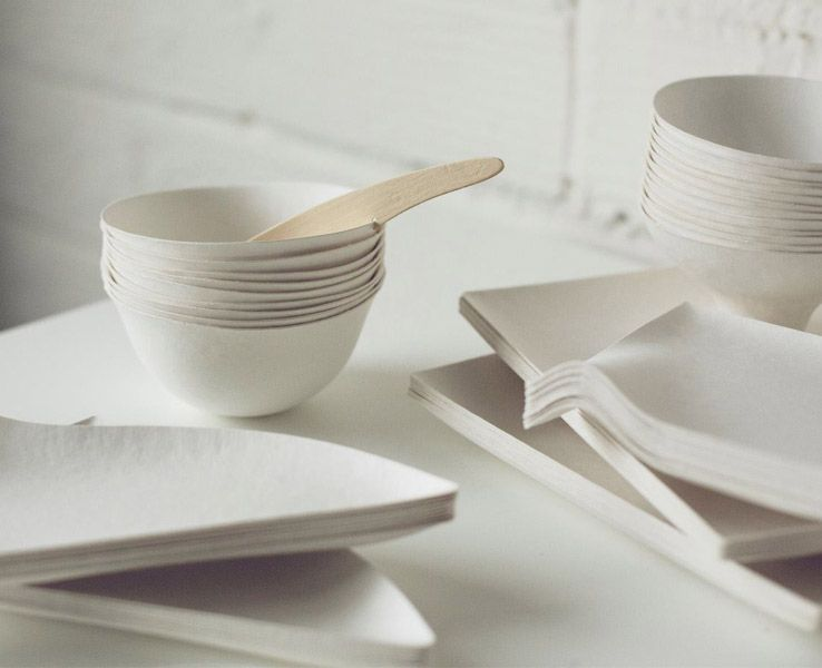 Wasara tableware is a beautiful elegant and disposable collection designed by Shinichiro Ogata an & Wasara Tableware: Elegant u0026 Disposable | Tablewares Elegant and Modern